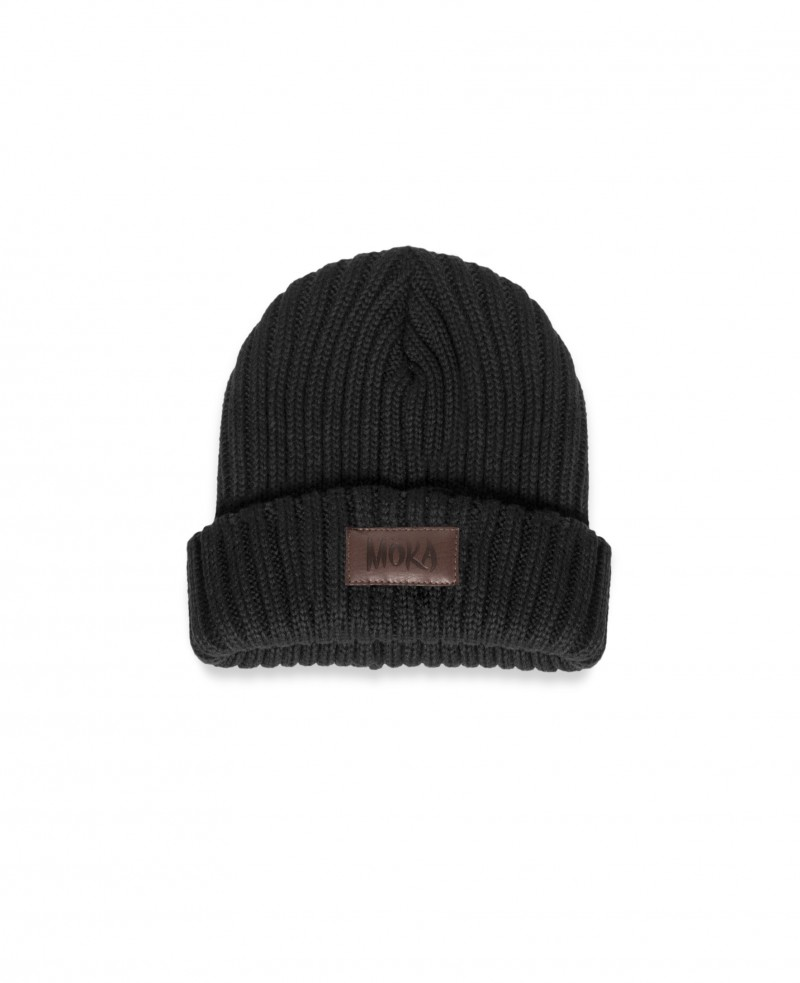 BMK MOKA FISHER BEANIE BLACK